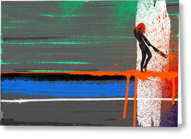 Intense Paintings Greeting Cards - Rage Greeting Card by Naxart Studio