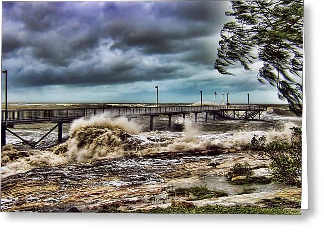 Monsoons Greeting Cards - Raging Waters Greeting Card by Douglas Barnard