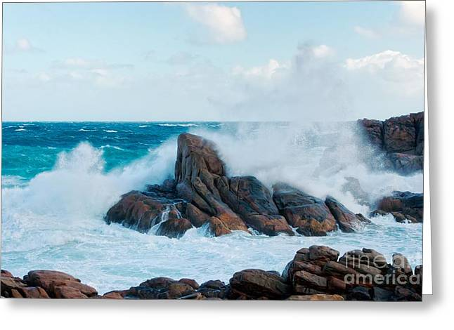 Raging Waves II - Colour Greeting Card by Hideaki Sakurai
