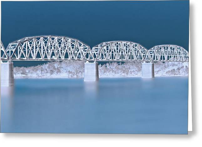 Indiana Rivers Digital Greeting Cards - Railroad Bridge Greeting Card by Sandy Keeton