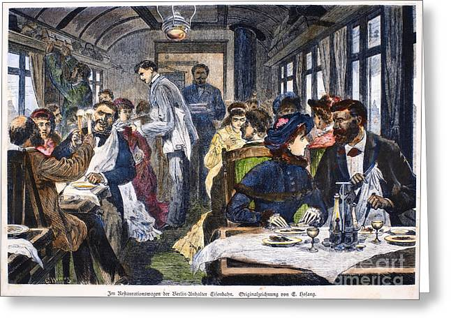 Toast Greeting Cards - Railroad: Diner, 1881 Greeting Card by Granger