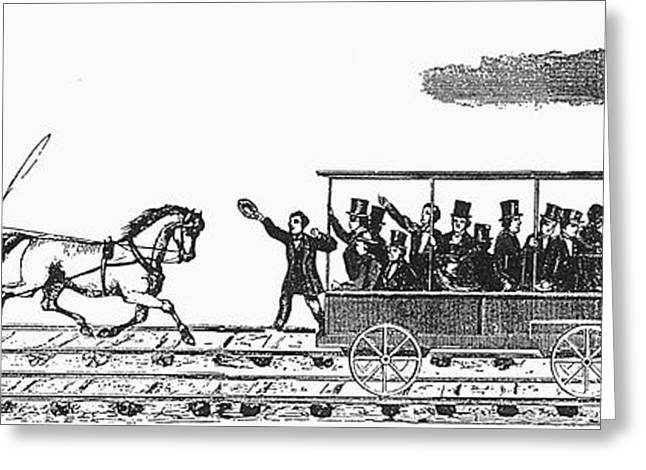 Race Horse Greeting Cards - Railroad: Tom Thumb, 1830 Greeting Card by Granger