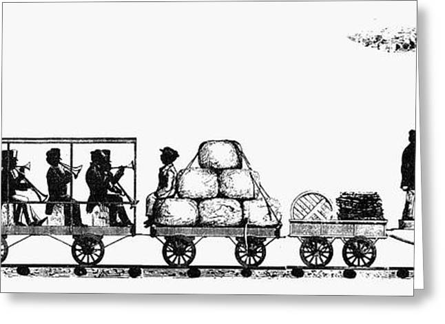 African-american Greeting Cards - RAILROADING, 1830s Greeting Card by Granger