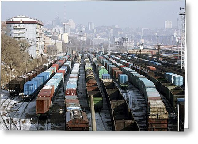 21st Greeting Cards - Railway Depot, Russia Greeting Card by Ria Novosti