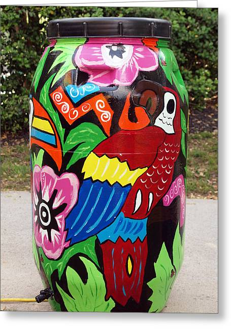 Rain Barrel 2 Greeting Card by Luis Lugo