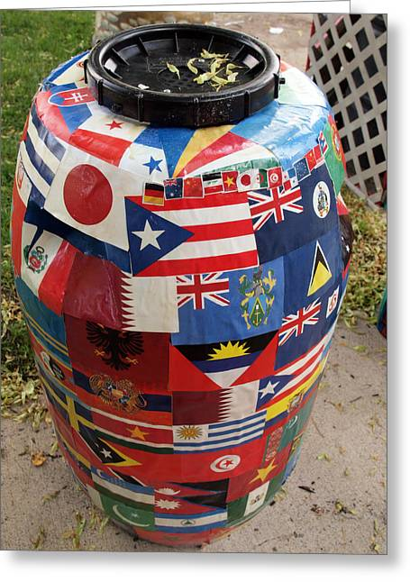 Rain Barrel Greeting Card by Luis Lugo