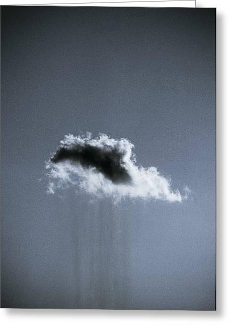 Grey Clouds Greeting Cards - Rain Cloud Greeting Card by Richard Kail