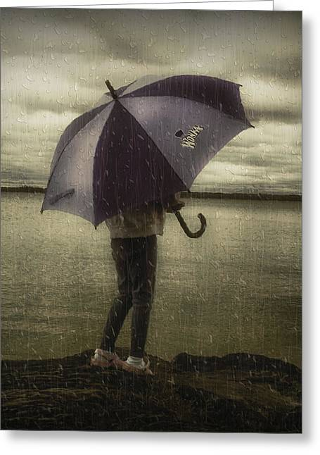Rain Day 2 Greeting Card by Heather  Rivet
