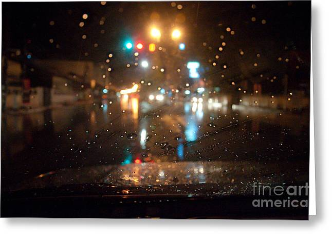 Rain Drop At Front Car Mirror Greeting Card by Ngarare
