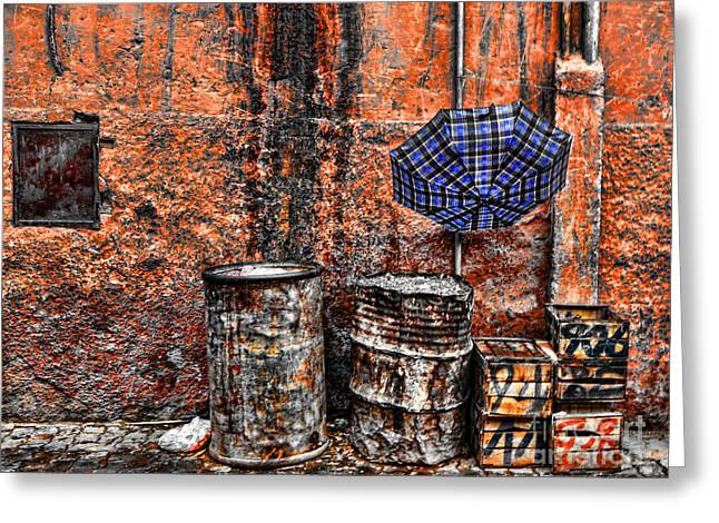 Rain In Marrakesh Greeting Card by Chuck Kuhn