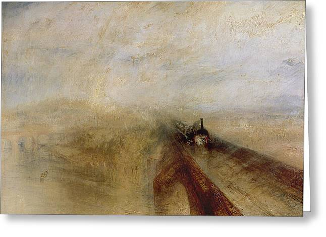 1851 Greeting Cards - Rain Steam and Speed Greeting Card by Joseph Mallord William Turner