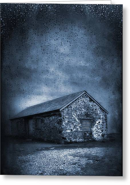 Horror Drawings Greeting Cards - Rain Greeting Card by Svetlana Sewell