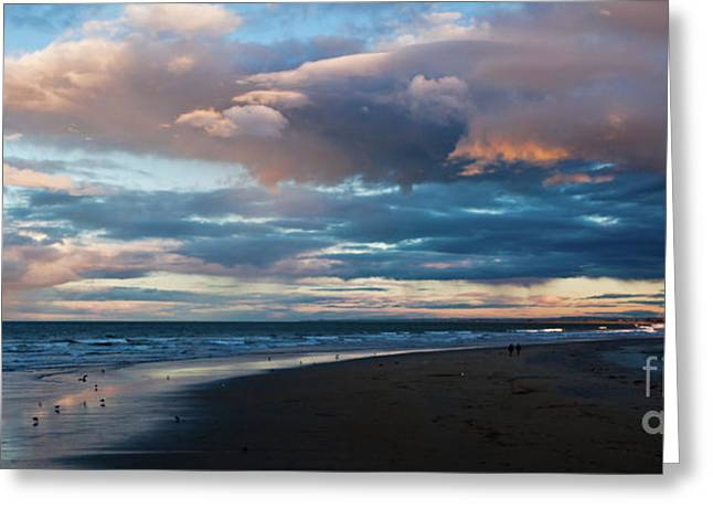 Mount Maunganui Greeting Cards - Rainbow At Days End Greeting Card by John Buxton
