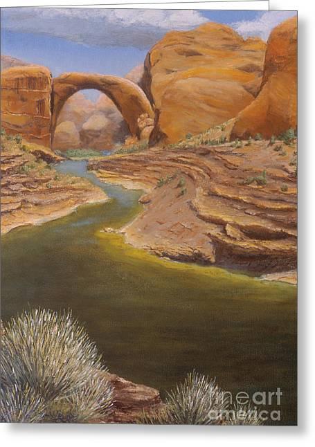 Jerry Mcelroy Greeting Cards - Rainbow Bridge Greeting Card by Jerry McElroy