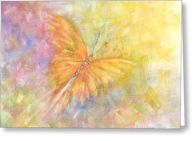 Rainbow Butterfly 3 Greeting Card by Kathleen Pio