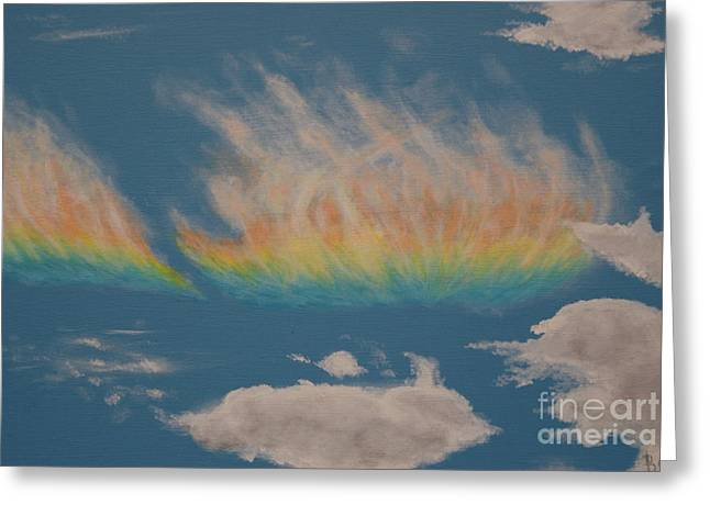 Occurrence Greeting Cards - Rainbow Cloud Greeting Card by William Ohanlan