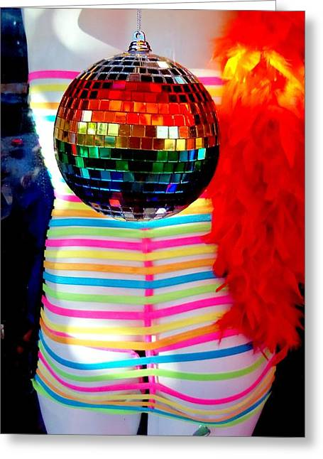 Outfit Greeting Cards - Rainbow Disco Greeting Card by Randall Weidner