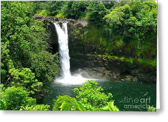 Silvie Kendall Photographs Greeting Cards - Rainbow Falls Greeting Card by Silvie Kendall