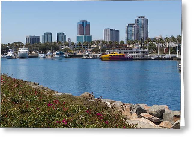 California Beach Art Greeting Cards - Rainbow Harbor Greeting Card by Heidi Smith
