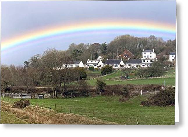 Biological Greeting Cards - Rainbow In Devon Greeting Card by Dr Keith Wheeler