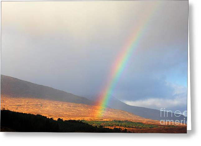 Greeting Cards - Rainbow in Scotland Greeting Card by Holger Ostwald