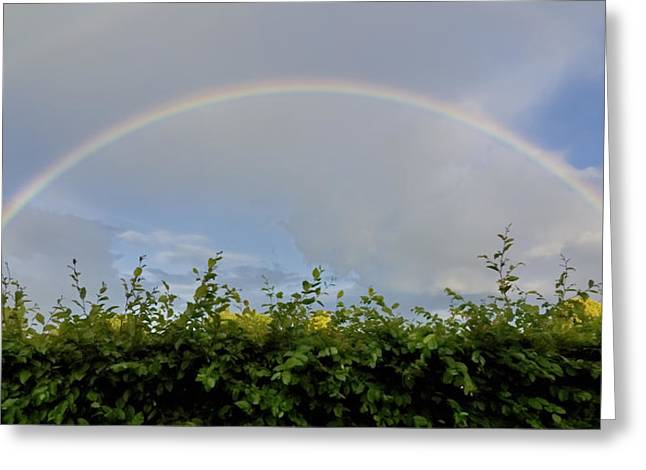 Double Rainbow Greeting Cards - Rainbow in Warwick Greeting Card by Vicki Jauron