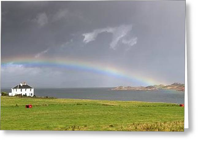 Waterways Greeting Cards - Rainbow, Island Of Iona, Scotland Greeting Card by John Short
