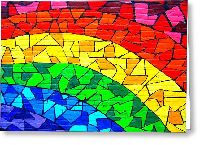 Blau Greeting Cards - Rainbow ... Greeting Card by Juergen Weiss