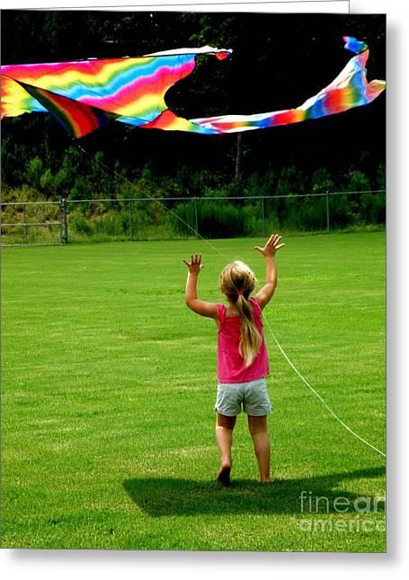 Rainbow Kite Greeting Card by Lainie Wrightson