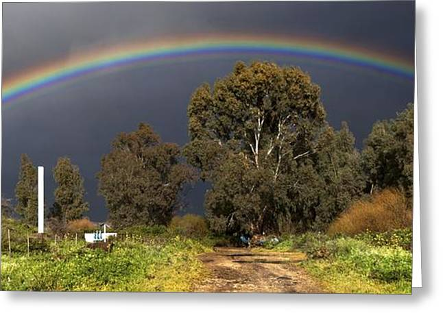 Wintry Greeting Cards - Rainbow Greeting Card by Photostock-israel