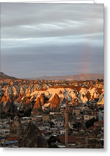 Occurrence Greeting Cards - Rainbow Rain Clouds Sunshine Greeting Card by Kantilal Patel