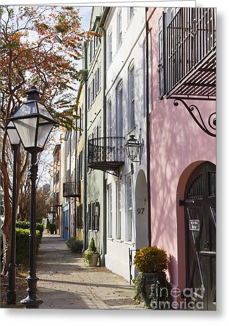 Sc Greeting Cards - Rainbow Row Charleston SC 3 Greeting Card by Dustin K Ryan