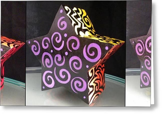 Rainbows Drawings Greeting Cards - Rainbow Star Box Greeting Card by Mandy Shupp