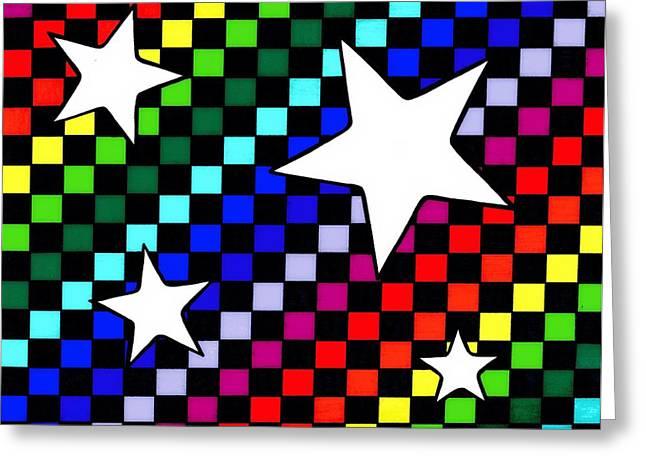 Checker Board Greeting Cards - Rainbow Starboard Greeting Card by Mandy Shupp