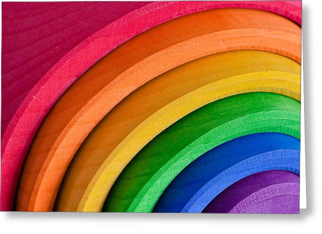 Different Groups Greeting Cards - Rainbow Greeting Card by Tom Gowanlock