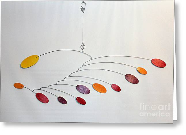 Ceiling Mobile Greeting Cards - Rainbow Zen Greeting Card by Carolyn Weir