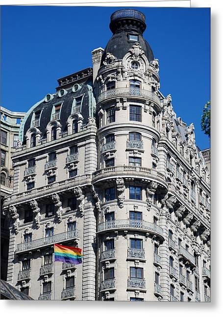Rainbows And Architecture Greeting Card by Rob Hans