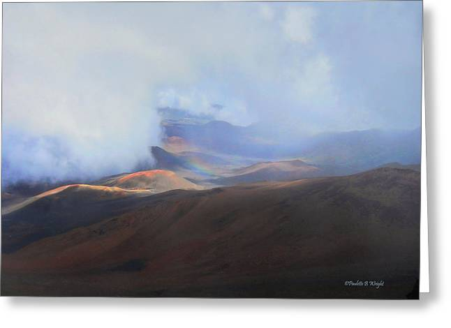 Paulette Wright Digital Art Greeting Cards - Rainbows and Cinder Cones Greeting Card by Paulette B Wright