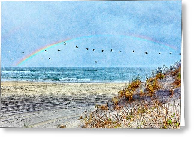 Rainbows And Wings II Greeting Card by Dan Carmichael