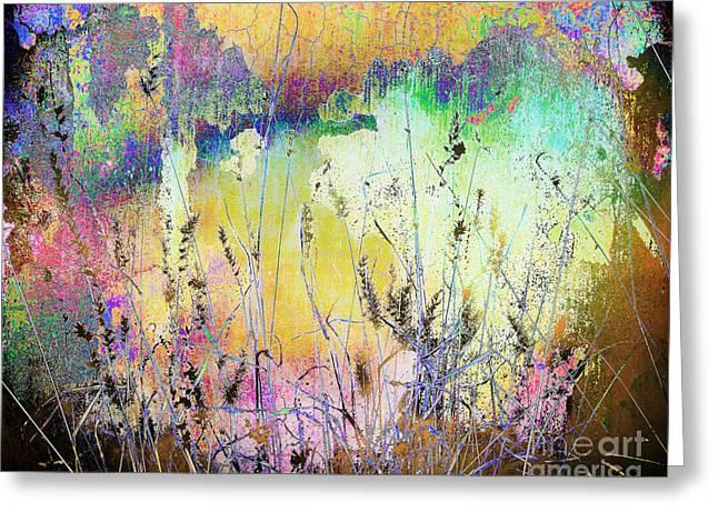 Aj Hansen Greeting Cards - Rainbows End Greeting Card by Arne Hansen