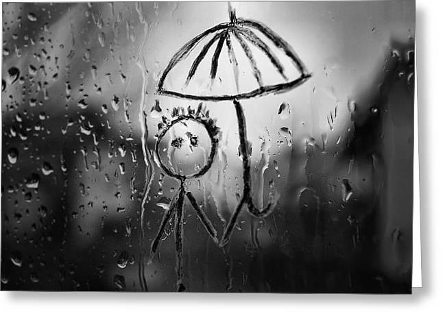 Raining Again Greeting Card by Sunkies Fang