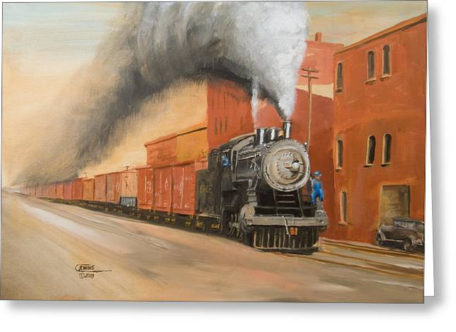 Railroad Greeting Cards - Raining Cinders Greeting Card by Christopher Jenkins