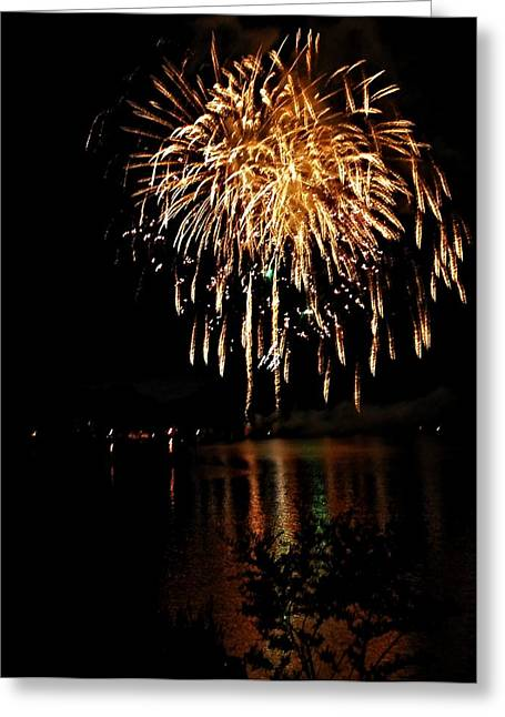 North Fork Digital Greeting Cards - Raining Fire Greeting Card by Don Mann