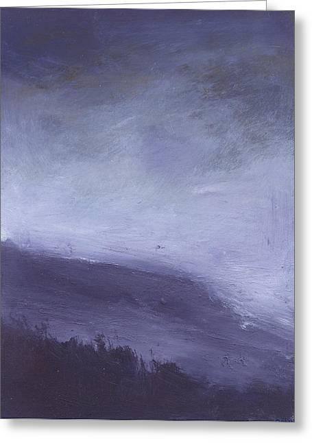 Rainstorm Over Stenbury Down Greeting Card by Alan Daysh