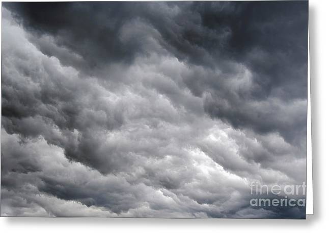 Leaden Sky Greeting Cards - Rainy Clouds Greeting Card by Michal Boubin
