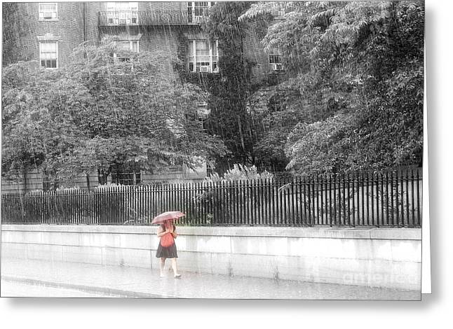 Rainy Day Greeting Card by Julie Lueders