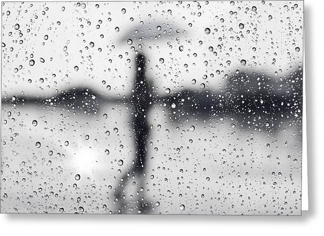 Abstract Rain Greeting Cards - Rainy day Greeting Card by Setsiri Silapasuwanchai