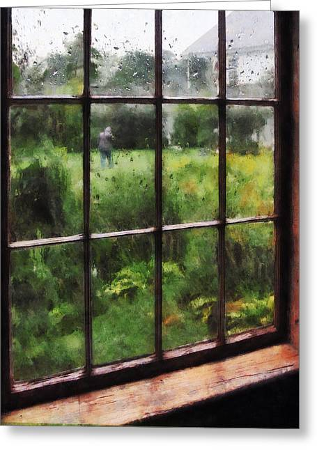 Designs By Susan Greeting Cards - Rainy Day Greeting Card by Susan Savad