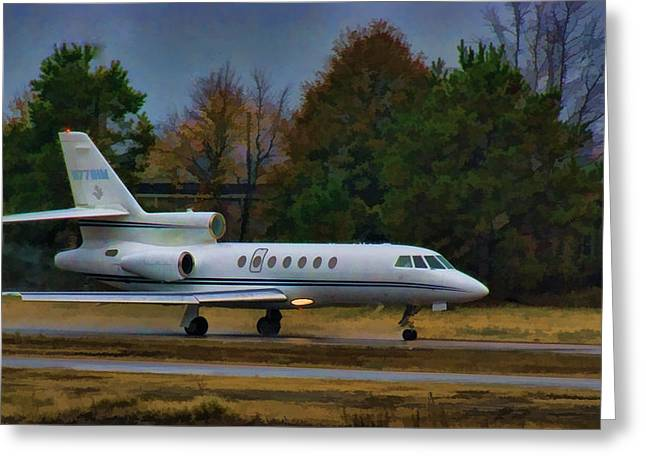 Lexington South Carolina Greeting Cards - Rainy Evening Departure Greeting Card by Steven Richardson