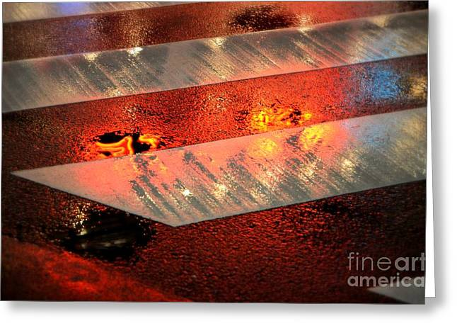 Puddle Greeting Cards - Rainy Night in Chinatown 2 Greeting Card by Dean Harte
